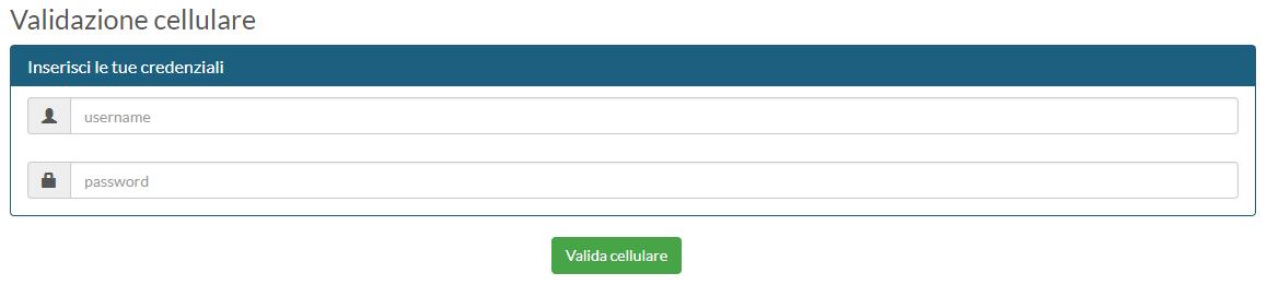 Validazione cellulare - passo 1