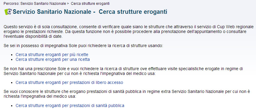 screenshot cerca strutture eroganti