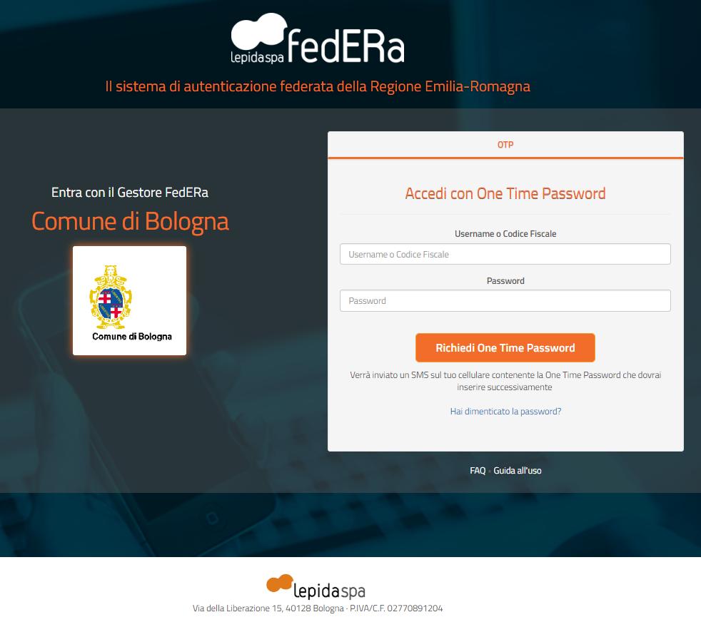 Accedi con FedERa - step 2