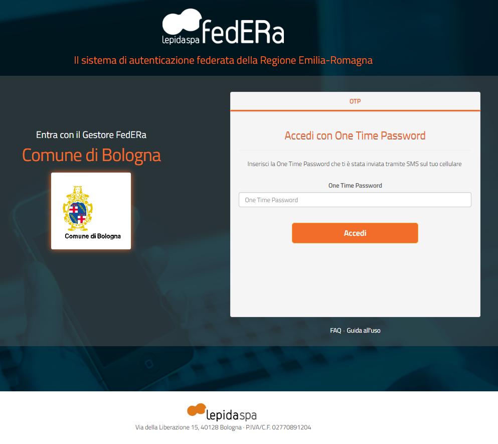 Accedi con FedERa - step 3