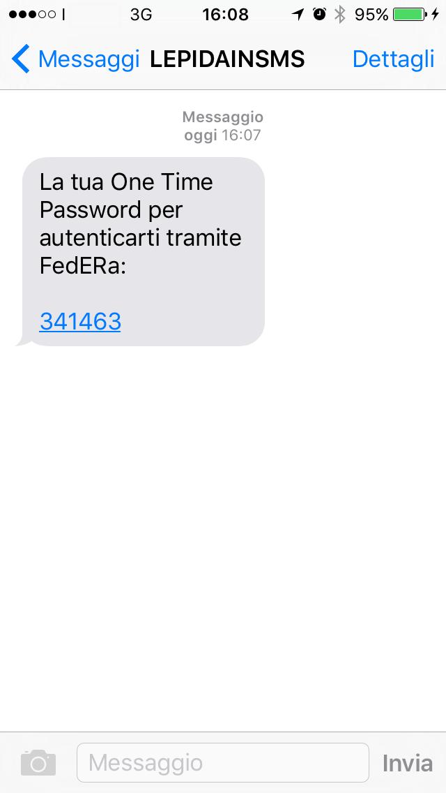 SMS con OTP
