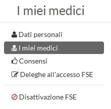menu contestuale medici
