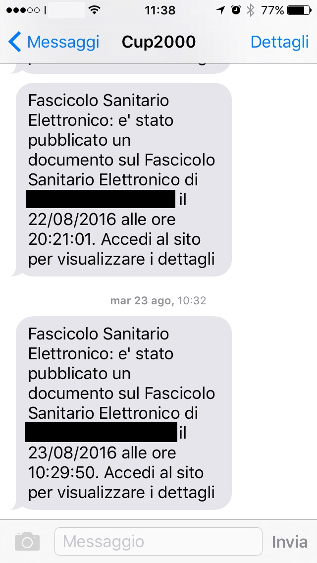 notifica via sms