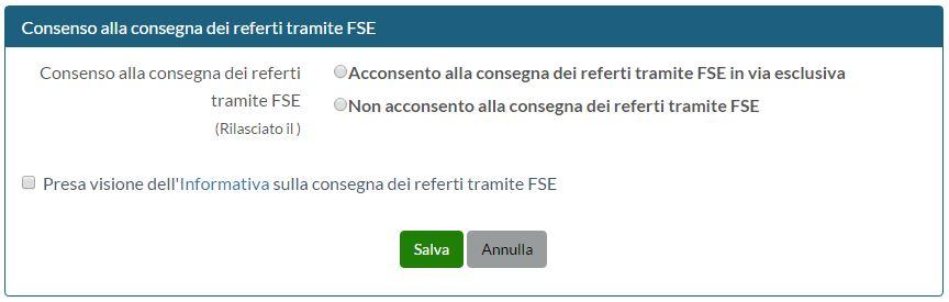 consensi primo accesso - referti online