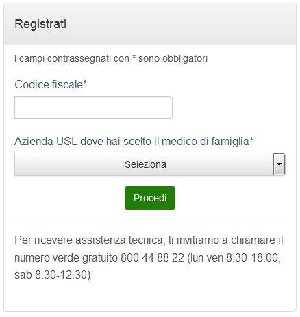 registrazione online step 1